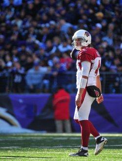Cardinals quarterback Kevin Kolb in Baltimore