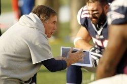 Patriots Belichick against Bills at Gillette Stadium in Foxboro, MA