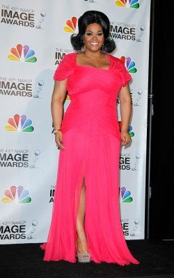 Singer Jill Scott backstage in the press room at the 43rd NAACP Image Awards in Los Angeles
