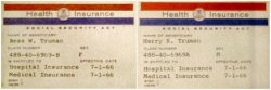 Harry and Bess Truman's medicare cards