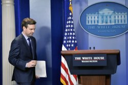 Josh Earnest Delivers the Daily Press Briefing in Washington, D.C.
