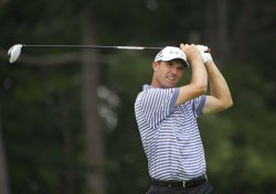Harrington tees off on 2nd hole at 93rd PGA Championship