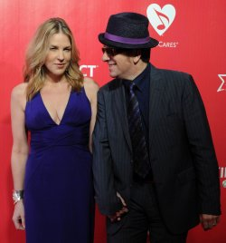 Elvis Costello and Diana Krall attend the MusiCares Person of the Year gala in Los Angeles