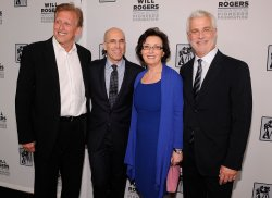 Joe Roth, Jeffrey Katzenberg, Madeline Sherak and Rob Friedman appear at the 2014 CinemaCon in Las Vegas