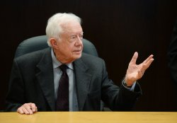 """Jimmy Carter signs copies of his new book """"A Call to Action: Women, Religion, Violence and Power"""" in Los Angeles"""