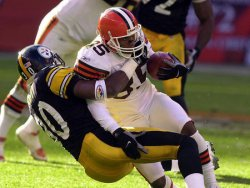 Browns Kevin Johnson After Short Catch Against Steelers