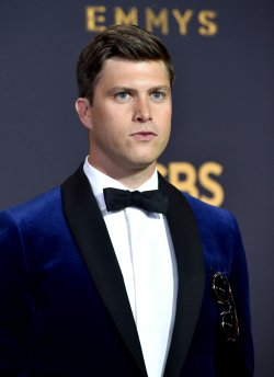 Colin Jost attends the 69th annual Primetime Emmy Awards in Los Angeles