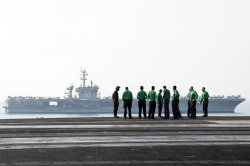 United States Aircraft Carriers Switch Duties in Arabian Gulf