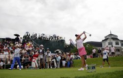 Paula Creamer plays in the final round of the Wegmans LPGA Championship at Locust Hill Country Club in New York