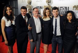"Cast members attend the ""Bones"" 100th episode celebration in West Holywood"