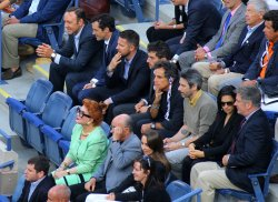 Celbrities watch the men's final match at the U.S. Open in New York