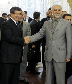 Turkish Foreign Minister Ahmet Davutoglu visits Iran