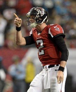 The Atlanta Falcons play the Carolina Panthers