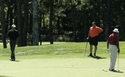 President Obama plays golf on Martha's Vineyard