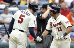 The Atlanta Braves play the Philadelphia Phillies