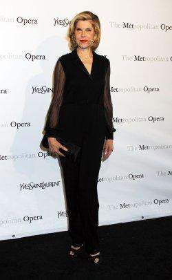 "Christine Baranski arrives for the Metropolitan Opera premiere of ""Manon"" in New York"