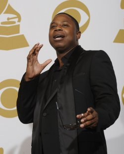 Doug E. Fresh appears backstage at the 52nd Annual Grammy Awards