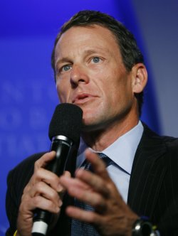Lance Armstrong speaks at the sixth annual Clinton Global Initiative in New York