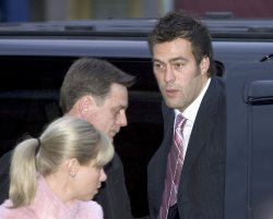 Vancouver Canuck's Todd Bertuzzi arrives at Court