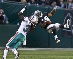 Raiders Jacoby Ford catches pass in loss to Dolphins in Oakland, California