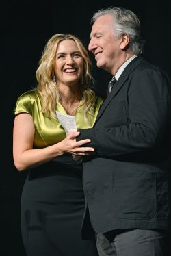 Kate Winslet and Alan Rickman attend 'A Little Chaos' world premiere at the Toronto International Film Festival
