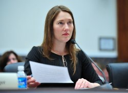 Heather Boushey, senior economist at the Center for American Progress, testifies on the State of the American Workforce in Washington