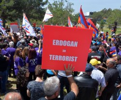 Thousands march to mark 102nd anniversary of the Armeninian genocide