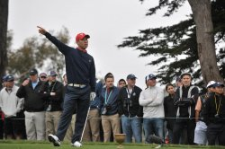 Anthony Kim drives off of the 2nd tee during the 2009 Presidents Cup in San Francisco