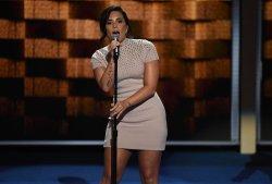 Singer Demi Lovato performing at the DNC in Philadelphia