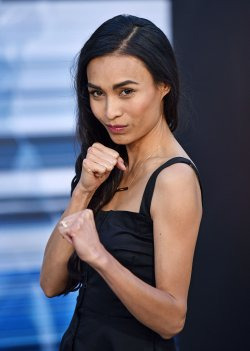 Jessica Rey attends the 'Power Rangers' premiere in Los Angeles