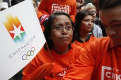Torrizo reacts after Chicago's Olympic bid was rejected