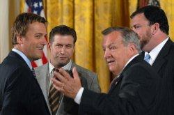 President Bush speaks about National Volunteer Week in Washington