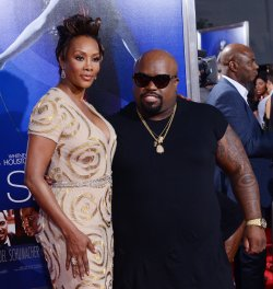 "Cee-Lo Green and Vivica A. Fox attend the premiere of ""Sparkle"" with parents in Los Angeles"