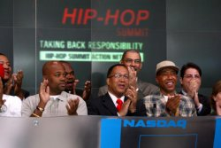 HIP HOP SUMMIT RINGS OPENING BELL AT THE NASDAQ