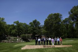 Leaders Commence G8 Summit At Camp David