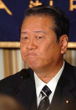 ICHIRO OZAWA CRITICIZES KOIZUMI GOVERNMENT