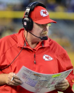 Kansas City Chiefs Coach Andy Reid in Pittsburgh