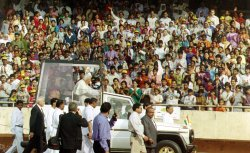 Pope John Paul II in India