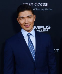 """Rick Yune attends the """"Olympus Has Fallen"""" premiere in Los Angeles"""
