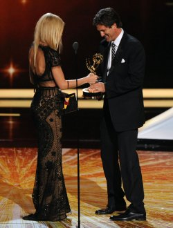 """Modern Family"" garners outstanding comedy series award at the 63rd Primetime Emmy Awards in Los Angeles"