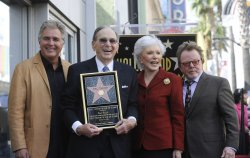 Steve Tyrell, Hal David, wife Eunice and Paul Williams pose for phorographers after Hal David receives a star on the Hollywood Walk of Fame in Los Angeles