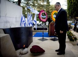 Israeli Prime Minister Benjamin Netanyahu attends anniversary ceremony of the assassination of Israeli Prime Minister Yitzhak Rabin