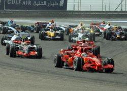 FERRARI'S FELIPE MASSA WINS THE BAHRAIN FORMULA ONE GRAND PRIX