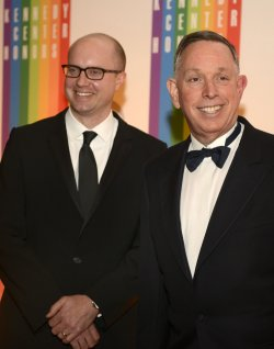Michael Kaiser and John Roberts arrive for 2013 Kennedy Center Honors Gala in Washington DC