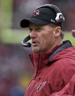 Cardinals Head Coach Ken Whisenhunt loses to the 49ers at Candlestick Park in San Francisco