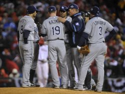 Game five of the World Series between the Tampa Bay Rays and Philadelphia Phillies in Philadelphia