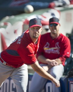 Practice for Game 3 of the NLCS in San Francisco