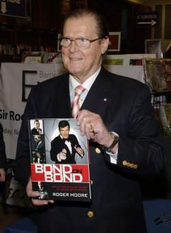 Roger Moore at Barnes & Noble in New York