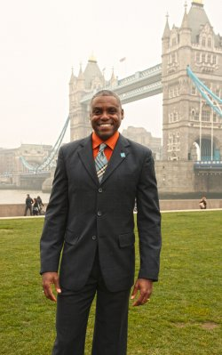 Carl Lewis at London 2012 Olympics photocall