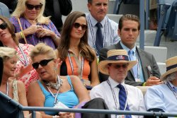 Pippa Middleton watches Victoria Azarenka take on Samantha Stosur at the U.S. Open in New York